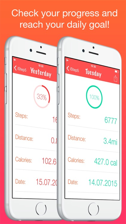 iStep5 - Pedometer - Daily Activity - Steps, Distance, Calories counter screenshot-3