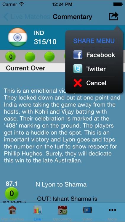 Live Cricket Matches Full Score 2014 t20 screenshot-3