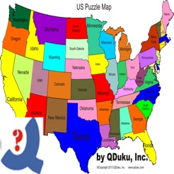 Us Puzzle Map Game On The App Store - Puzzle-us-map
