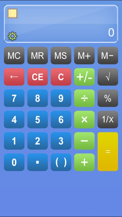 Calculator HD% - Basic Calculater App Pro with Formula Display & Notable Paper Tape for the iPad,iPhone and iPod
