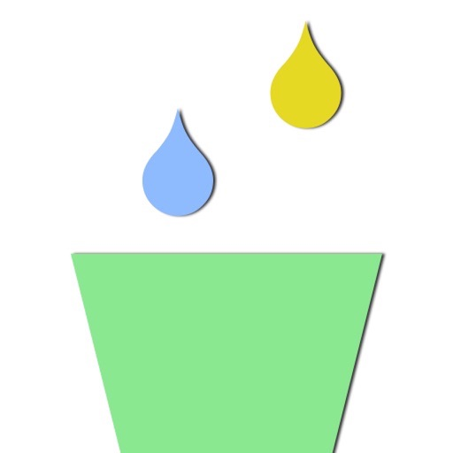 Collect Colorful Raindrop With Glass Cup at Finger Tip Free
