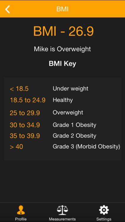 My Size - BMI, Weight, Body Fat & Body Measurement Health Tracker screenshot-4