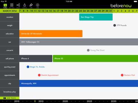 beforenow personal timeline creator and journal app price drops