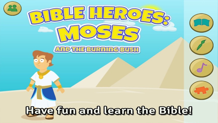 Moses and the Burning Bush: Bible Heroes -  Teach Your Kids with Stories, Songs, Puzzles and Coloring Games!