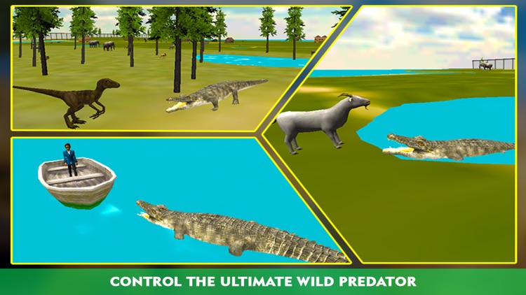 Crocodile Attack Simulator 3D – steer the wild alligator and hunt down farm animals screenshot-1