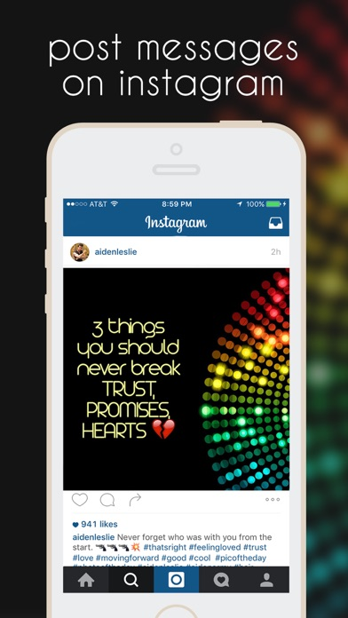 InstaMessage - Post Text Messages on Instagram app image