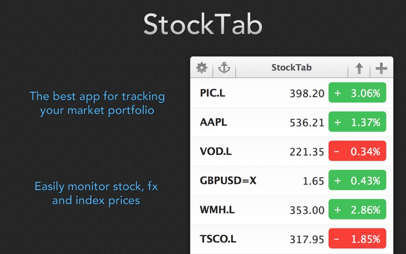 StockTab Screenshot
