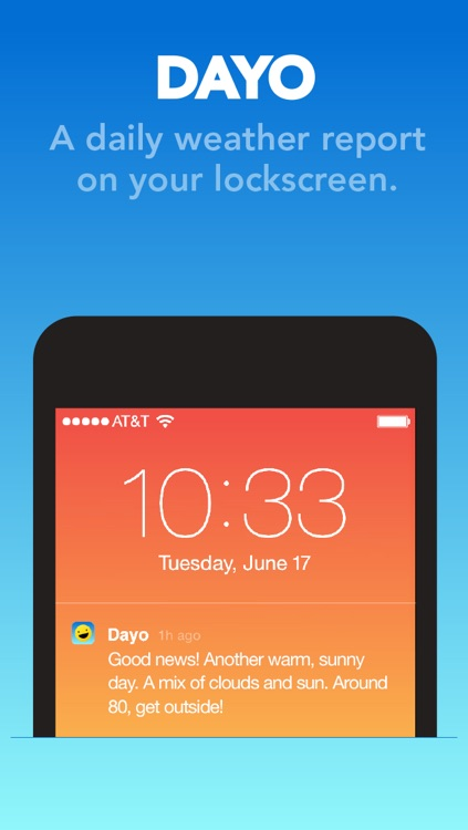 Dayo — Daily Weather on Your Lockscreen