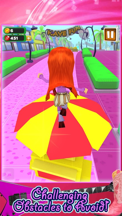 3D Fashion Girl Mall Runner Race Game by Awesome Girly Games FREE screenshot-0