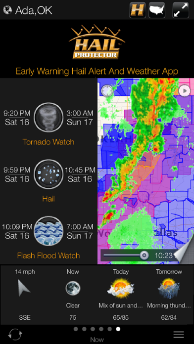 Early Warning Hail Alert and Weather App by HAIL PROTECTOR Screenshot