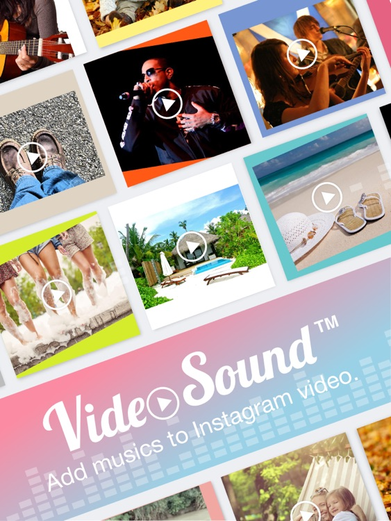 Video Sound for Instagram - Free Add Background Music to Video Clips and Share to Instagram Facebook Twitter for iPad Edition