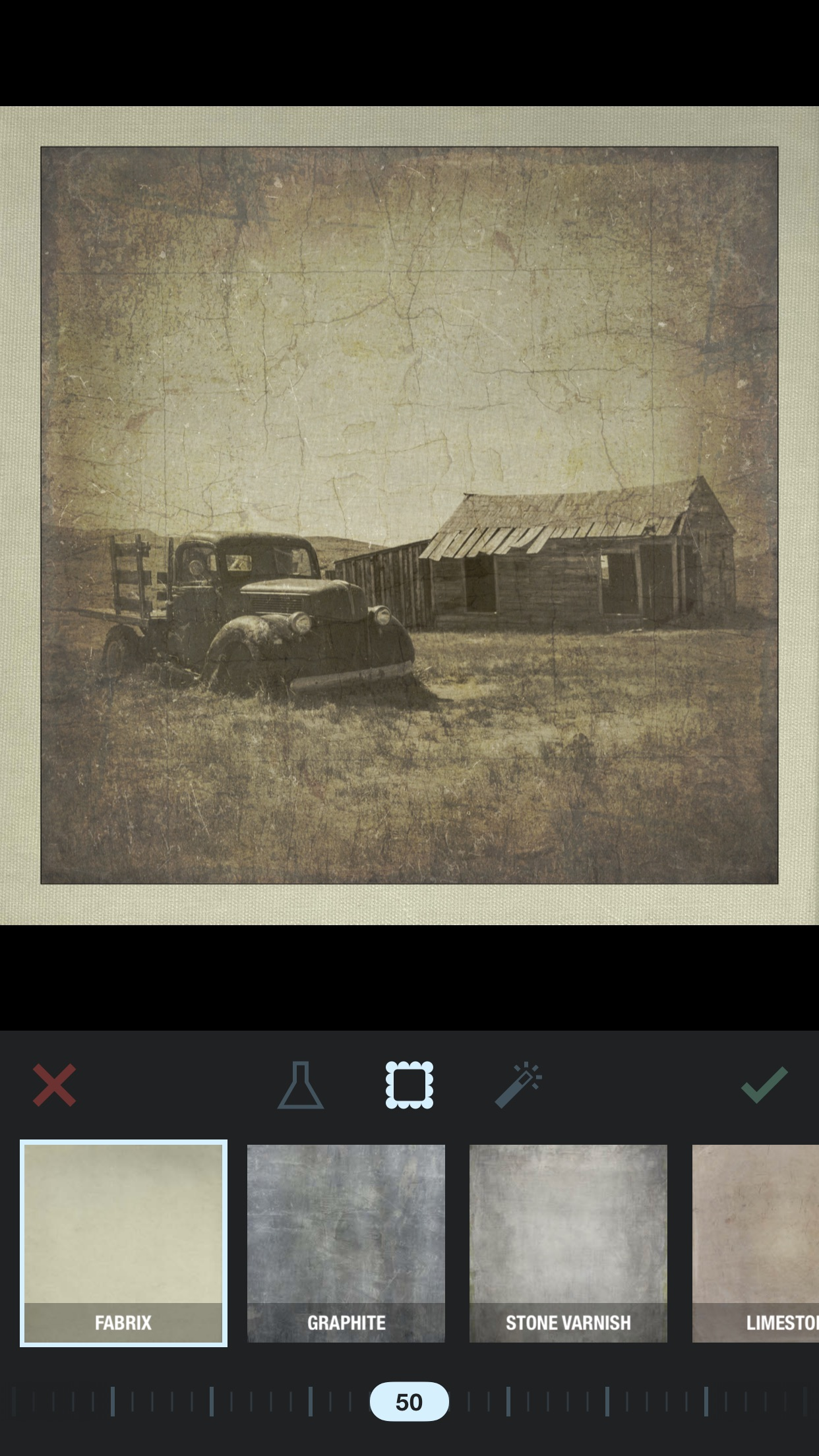 Screenshot do app Formulas - Efeitos de laboratório de fotos e molduras personalizadas
