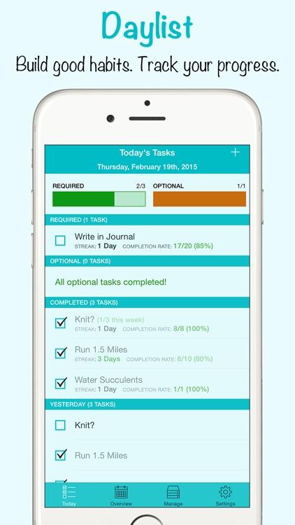 Daylist - Build Good Habits, Track Your Progress