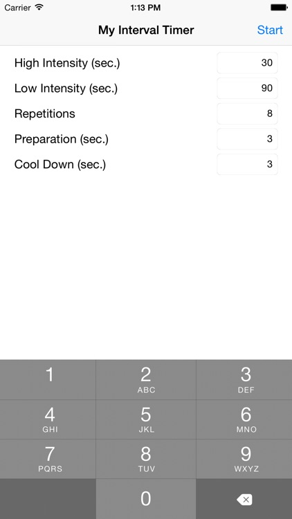 My Interval Timer - High Intensity Interval Training