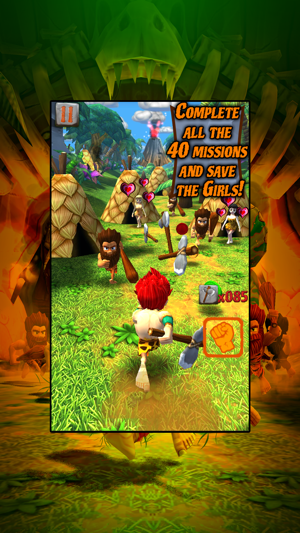 Caveman Dino Rush Screenshot