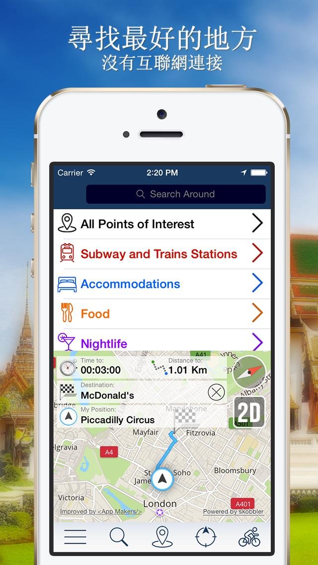 曼谷離線地圖+城市指南導航,景點和交通工具屏幕截圖2