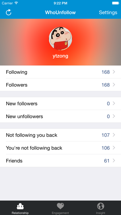 Whounfollow For Instagram review screenshots