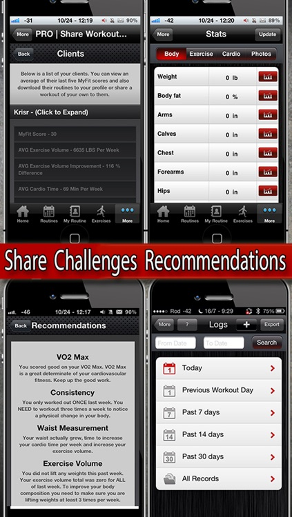 MyFit Fitness - Workout Logger and Weight Loss Exercise Tracker Free screenshot-4