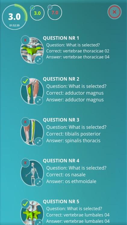 Anatomy Quiz - muscles and bones screenshot-3