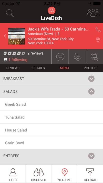 LiveDish : NYC's premier app for restaurant reviews, food photos, and menus. screenshot-4
