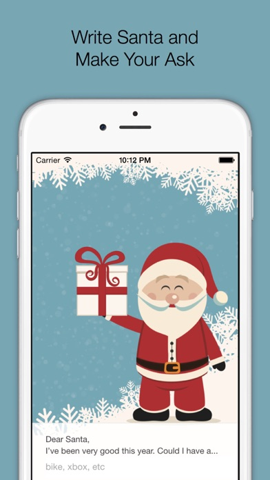 Text to Santa: Christmas Wishlist Creator for Kids of All Ages Screenshot on iOS