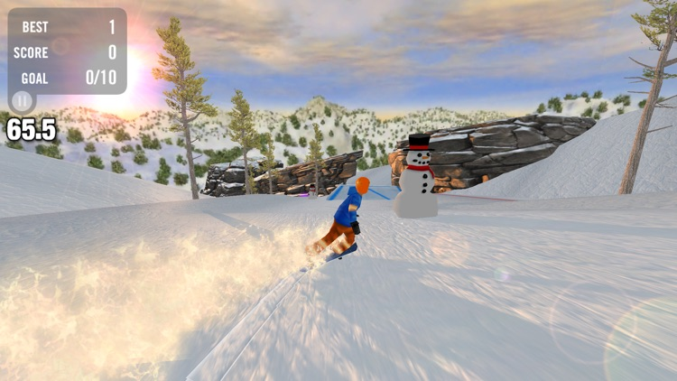 Crazy Snowboard Free screenshot-3