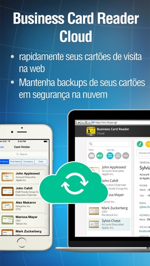 Business card reader pro na app store capturas de tela do iphone reheart