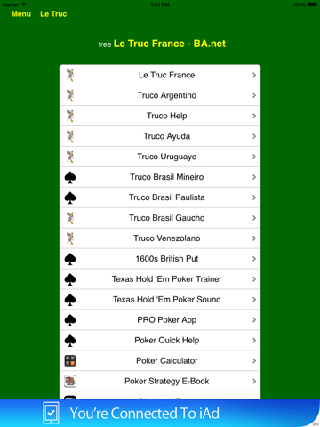 Le Truc Jeux de Cartes France pour iPad - BA.net screenshot 2