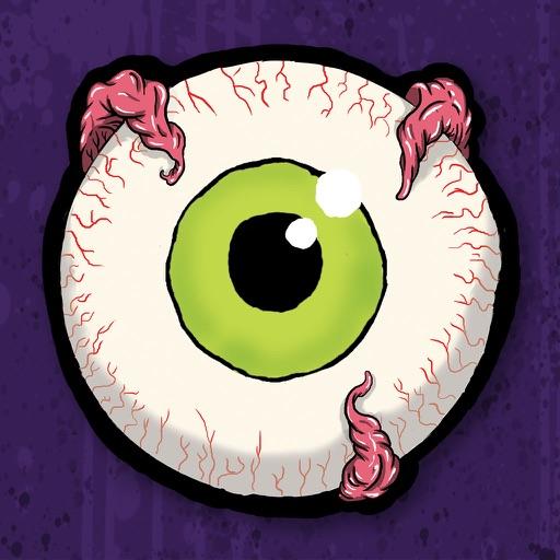 傻傻的照片與卡通殭屍和恐怖