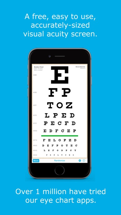 Eye Chart Hd Screen Vision With Pocket Snellen Sloan Near Vision