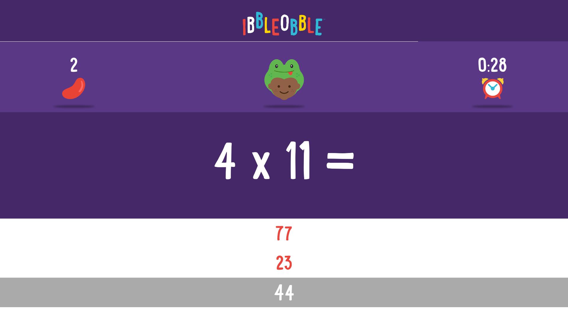 Multiplication with Ibbleobble screenshot 14