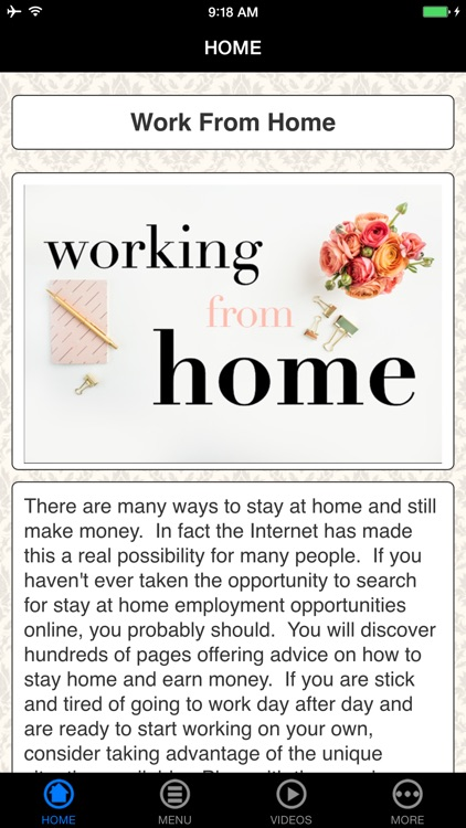Guide To Work From Home screenshot-0