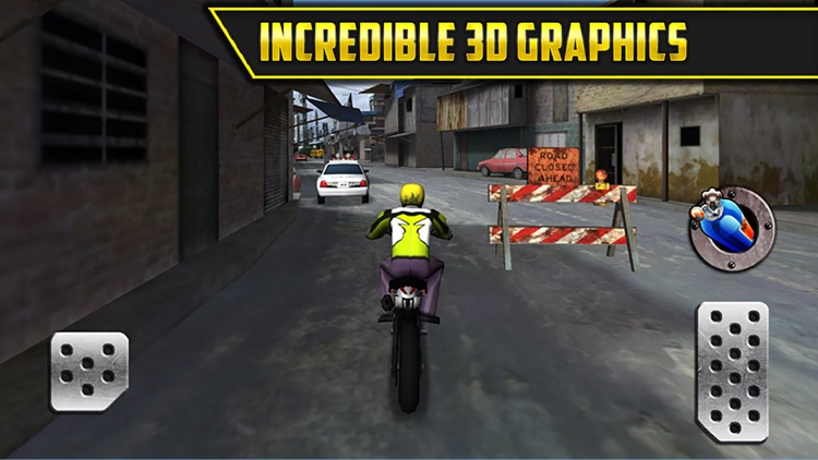 3D Motor-Bike Drag Race: Real Driving Simulator Racing Game screenshot-3