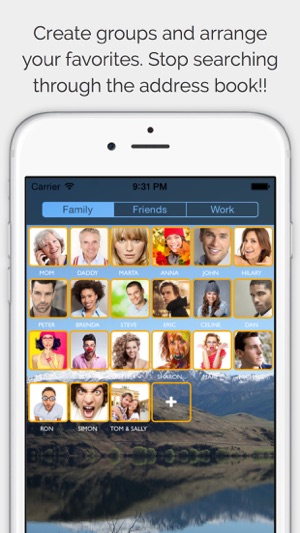swipe for iphone app 上的 callright pro your favorite contacts from 4481