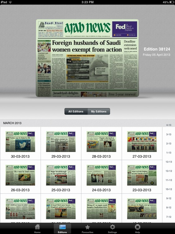 Arab News (for iPad) screenshot-3