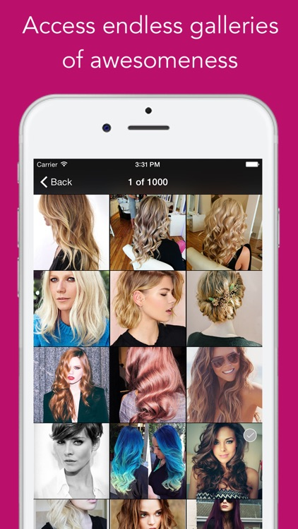 Hair Styles 2016 PRO - App for Hair Color and Cut, Salon Trends, Beauty Tips screenshot-1
