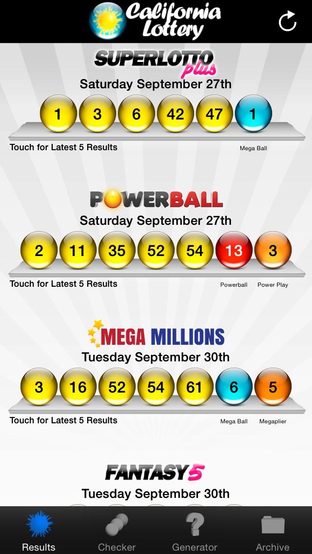 California Lottery - AppRecs