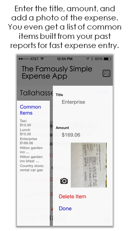 Famously Simple Expense App screenshot-3