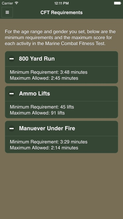 USMC Fitness screenshot-2