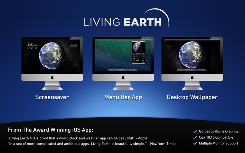 Living Earth Desktop Screenshot