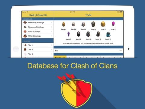 clash of clan database