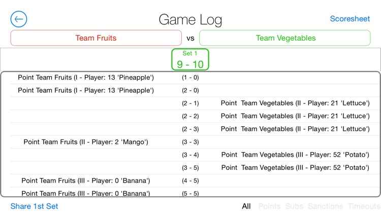 A Volleyball Scoreboard: The Simple Volleyball Match Tracking System screenshot-3