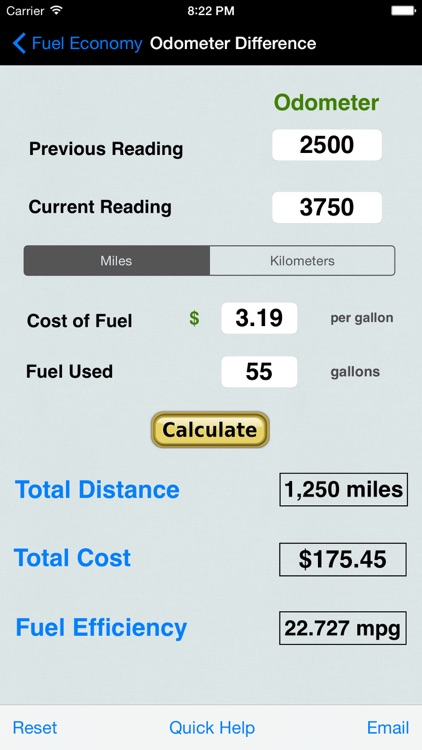 Fuel Calc : MPG, L100k, Car Economy Calculator screenshot-1