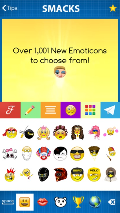 SMACKS DIRTY EMOJI + Fonts & Backgrounds + New Emoticons Smileys screenshot-1