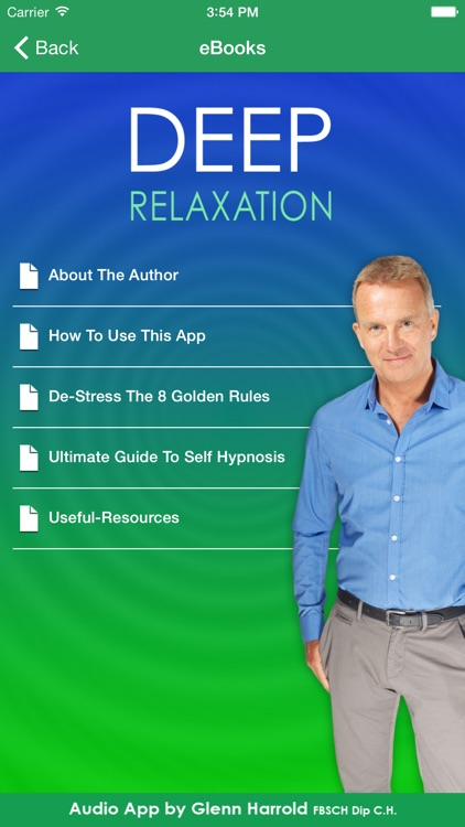 Deep Relaxation Hypnosis AudioApp-Glenn Harrold screenshot-3