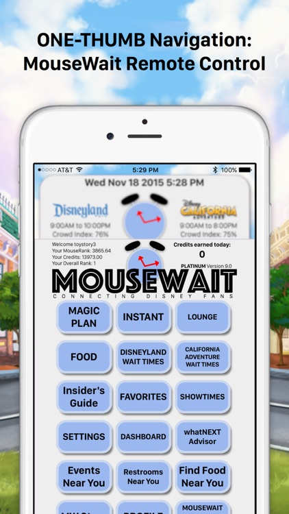 MouseWait for Disneyland Wait Times FREE screenshot-3