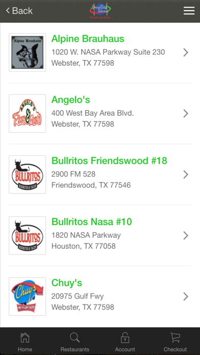 Space City Takeout Restaurant Delivery ServiceScreenshot of 2