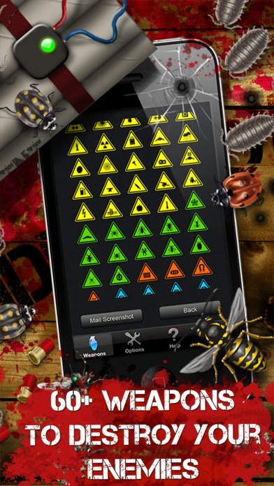 iDestroy Reloaded: Avoid pest invasion, Epic bug shooter game with crazy war weapons screenshot three