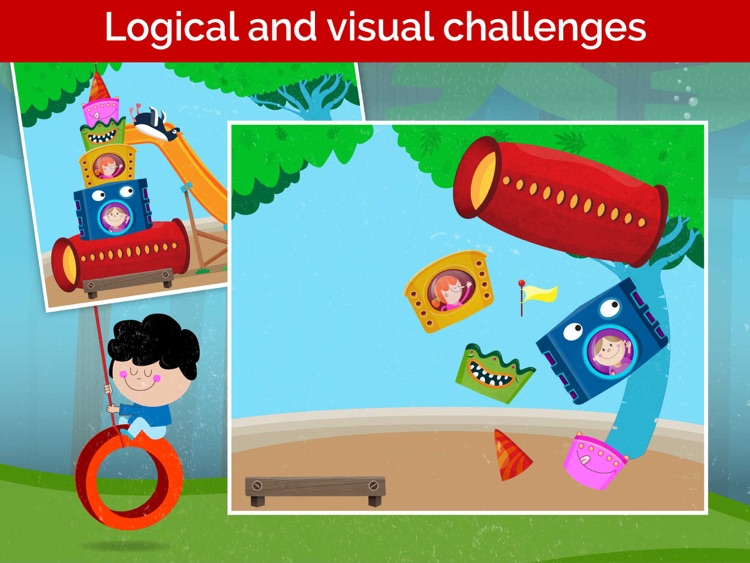 Kids puzzles games - toddlers games for kids free screenshot-4