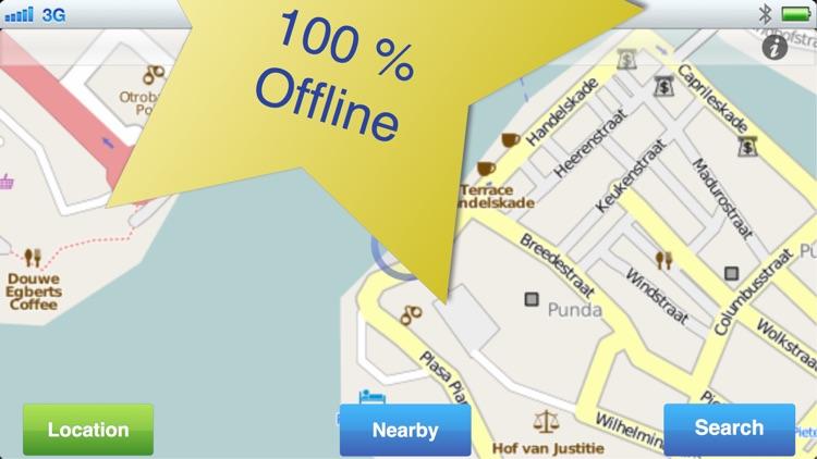 Curacao No.1 Offline Map